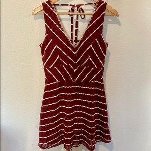 Boho - Low Cut Red Dress